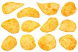 Orange pepper potato chips collection - 195818943