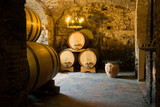 In the old wine cellar, Italy