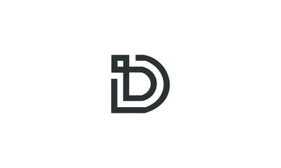 abstract D logo icon