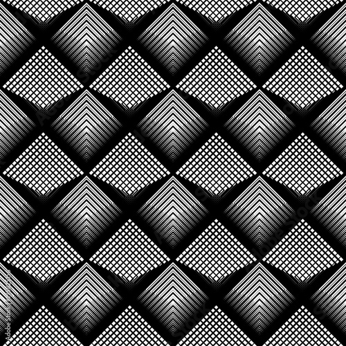 Design seamless monochrome grid pattern - 195825156