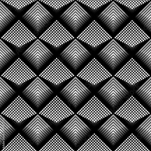 Design seamless monochrome grid pattern - 195825156
