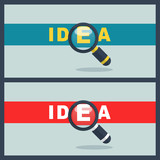idea word with magnifier concept