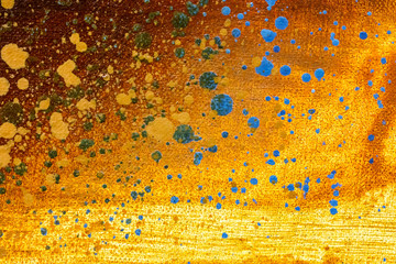 acrylic canvas background, abstract painting in orange colors
