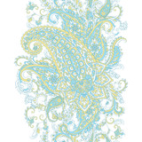 Paisley Pattern. Seamless Asian Textile Background - 195827792