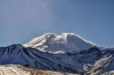 Зимний Эльбрус в снегу - 195839367
