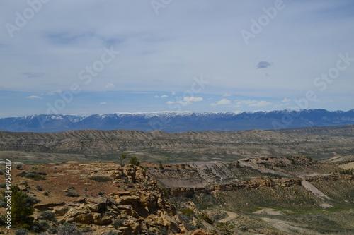 Fotobehang Zwart Wyoming