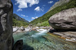 Verzasca valley on a sunny day