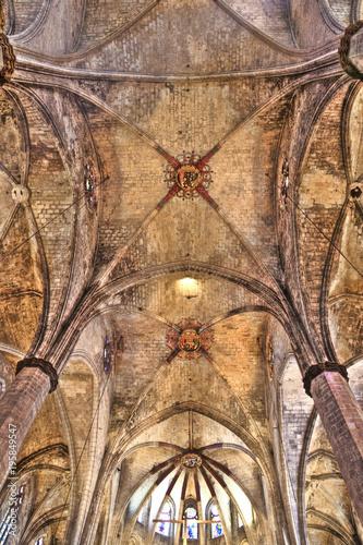 Foto op Canvas Barcelona Santa Maria del Mar Barcelona