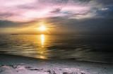 Colorful Sunset at Maldives island beach resort - 195850303