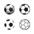 Football ball Icon , flat style , 3D style, single line style  .Soccer ball pictogram. Football symbol  Vector illustration, EPS10.
