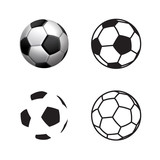 Football ball Icon , flat style , 3D style, single line style  .Soccer ball pictogram. Football symbol  Vector illustration, EPS10. - 195851347