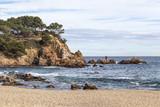 Seascape of Costa Brava, beach, S Agaro, Catalonia, Spain. - 195861580