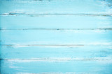 Vintage beach wood background - Old weathered wooden plank painted in blue color. - 195866351