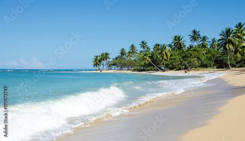 In de dag Beige Ferien, Tourismus, Sommer, Sonne, Strand, Meer, Glück, Entspannung, Meditation: Traumurlaub an einem einsamen, karibischen Strand :)