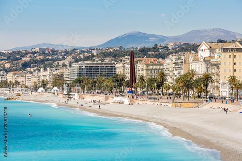 Foto op Canvas Nice France Nice Mediterranean beach