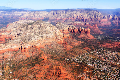 Deurstickers Arizona Aerial Images of the Red Rock Formations of Sedona Arizona