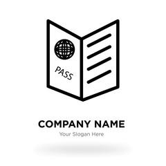 Passport visa company logo design template, Business corporate vector icon © Pro Vector Stock