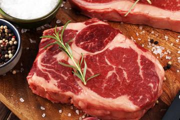 Barbecue Rib Eye Steak, dry Aged Wagyu Entrecote Steak
