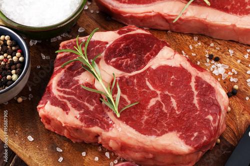 Foto op Plexiglas Steakhouse Barbecue Rib Eye Steak, dry Aged Wagyu Entrecote Steak