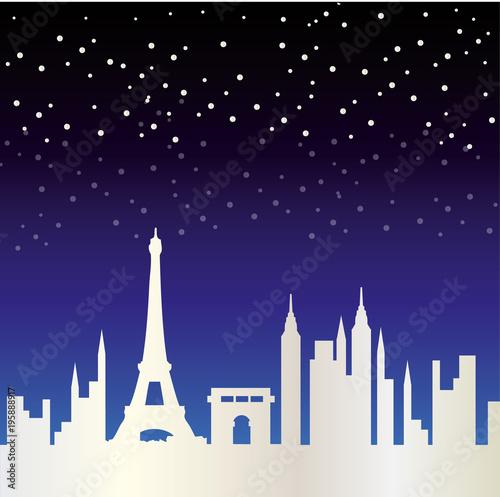 Fridge magnet Paris Skyline
