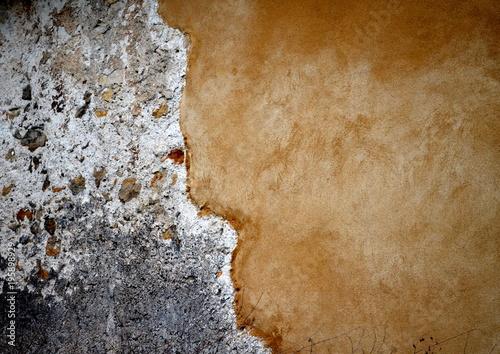 Tuinposter Baksteen muur Alte zweigeteilte Mauer