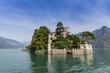 Island of Loreto on Iseo Lake