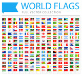 All World Flags - New Additional List of Countries and Territories - Vector Bookmark Flat Icons - 195913362