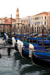 Gondolas on Grand Canal in Venice , Italy. Europe