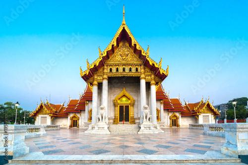 Foto op Canvas Bangkok Wat Benchamabophit Dusit wanaram. Bangkok, Thailandia.