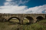 Stone arch bridge. Republic of Moldova.