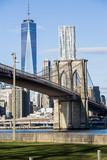 Brooklyn Bridge and Freedom Tower - 195917910