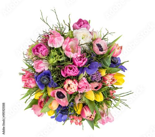 Spring flowers Tulip ranunculus anemone Beautiful bouquet