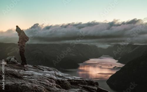Keuken foto achterwand Bergen Sunrise at Preikestolen