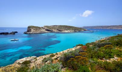 Beautiful landscape of Blue Logoon of Malta