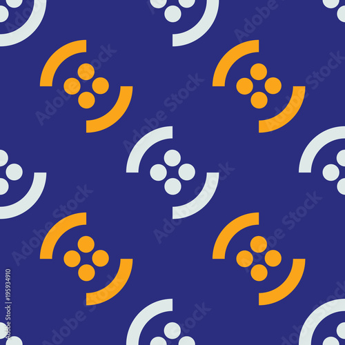 Graphic fruit seamless pattern. Strict line geometric pattern for your design. - 195934910