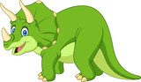 Cartoon triceratops isolated on white background - 195940967