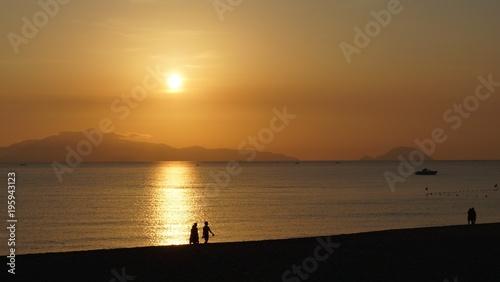 Aluminium Strand Beach Sunset