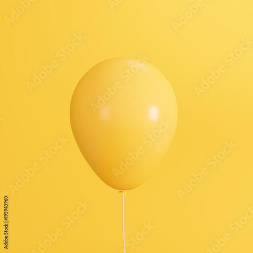 Yellow concept balloon. minimal style © aanbetta