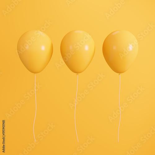 Yellow concept balloons. minimal style © aanbetta