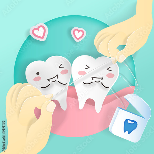 tooth with floss