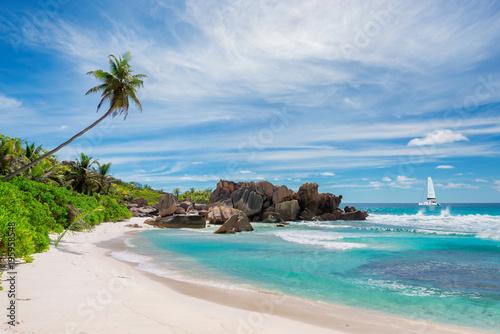 Plaża Anse Coco, wyspa La Didue, Seszele.