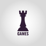 Chess Castle. Vector sign castle of chess.