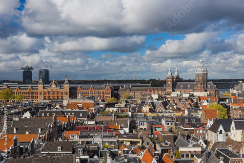 Poster Amsterdam Amsterdam cityscape - Netherlands
