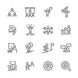 Business work icon set 2, vector eps10 - 195976708