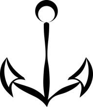 Anchor Icon Flat Sticker
