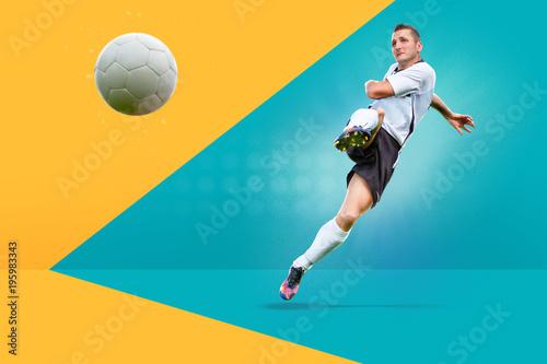 Aluminium Voetbal the soccer game