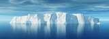 View of iceberg with beautiful transparent sea - 195985761