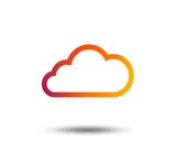 Cloud sign icon. Data storage symbol. Blurred gradient design element. Vivid graphic flat icon. Vector