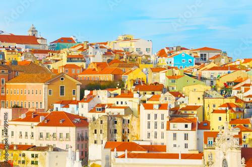Fotobehang Palermo Lisbon Old Town skyline, Portugal