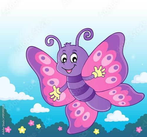 Naklejka Happy butterfly topic image 7